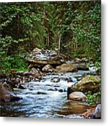 Peaceful Mountain River Metal Print by Lisa Holmgreen
