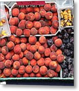 Peaches And Plums - 5d17913 Metal Print by Wingsdomain Art and Photography