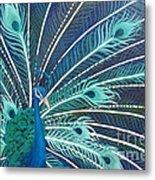 Peacock Metal Print by Estephy Sabin Figueroa