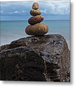 Pebble Sculpture Metal Print by Richard Thomas