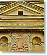 Pediment Of Oldest High School In France Metal Print by Kirsten Giving