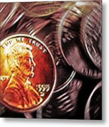 Pennies Abstract 3 Metal Print by Steve Ohlsen