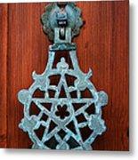 Pentagram Knocker Metal Print by Fabrizio Troiani