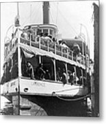 People Fleeing Galveston After Flood - September 1900 Metal Print by International  Images