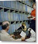 People Work In Rca Victors Vault Metal Print by Robert Sisson