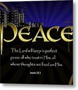 Perfect Peace Metal Print by Greg Long