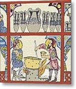 Persian Pharmacy, 13th Century Artwork Metal Print by Sheila Terry