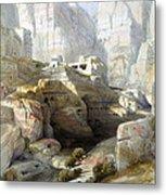 Petra March 10th 1839 Metal Print by Munir Alawi