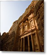 Petra Treasury At Morning Metal Print by Universal Stopping Point Photography