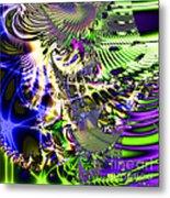 Phantasm . Square Metal Print by Wingsdomain Art and Photography