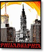 Philadelphia Poster Metal Print by Bill Cannon