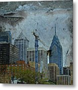 Philadelphia Skyline Metal Print by Mother Nature