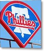 Phillies Logo Metal Print by Carol Christopher