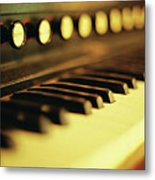 Piano Keys And Buttons Metal Print by photographer, loves art, lives in Kyoto