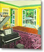 Piano Room Variation I Metal Print by Charlie Harris