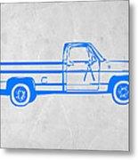 Pick Up Truck Metal Print by Naxart Studio