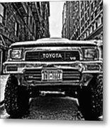 Pick Up Truck On A New York Street Metal Print by John Farnan