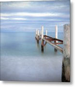 Pier In Pampelonne Beach Metal Print by Dhmig Photography