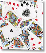 Pile Of Playing Cards Metal Print by Wingsdomain Art and Photography