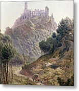 Pina Cintra Summer Home Of The King Of Portugal Metal Print by George Leonard Lewis