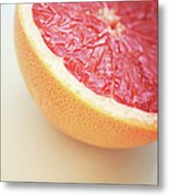 Pink Grapefruit Metal Print by Dhmig Photography