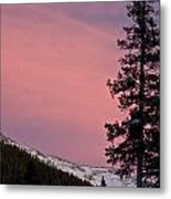 Pink Sunset Metal Print by Lisa  Spencer