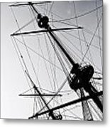 Pirate Ship Metal Print by Joana Kruse