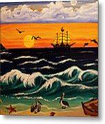 Pirate's Cove Metal Print by Adele Moscaritolo