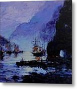 Pirate's Cove Metal Print by R W Goetting