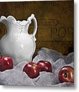 Pitcher With Apples Still Life Metal Print by Tom Mc Nemar