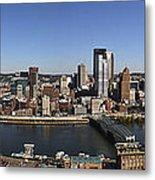 Pittsburgh Panoramic Metal Print by Teresa Mucha