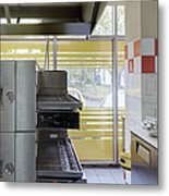 Pizzeria Kitchen Metal Print by Magomed Magomedagaev