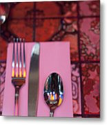 Place Setting Metal Print by Sam Bloomberg-rissman