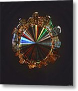 Planet Wee San Diego California By Night Metal Print by Nikki Marie Smith