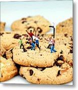 Playing Basketball On Cookies Metal Print by Paul Ge