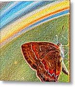 Playroom Butterfly Metal Print by Bill Tiepelman