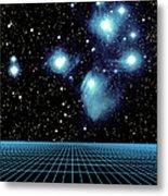 Pleiades In Taurus Metal Print by Science Source