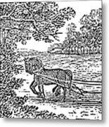 Ploughing, 19th Century Metal Print by Granger