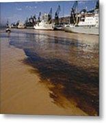 Polluted Water, Rio De La Plata Metal Print by Bernard Wolff