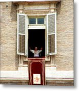 Pope Benedict Xvi A Metal Print by Andrew Fare