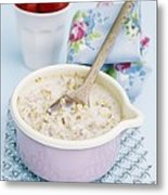 Porridge In A Pan Metal Print by Veronique Leplat