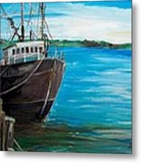 Portland Harbor - Home Again Metal Print by Scott Nelson