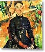 Portrait Madame Cezanne Metal Print by Pg Reproductions