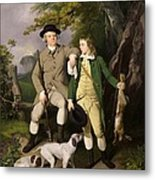 Portrait Of A Sportsman With His Son Metal Print by Francis Wheatley