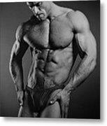 Portrait Of An Athlete Metal Print by Albert Smirnov