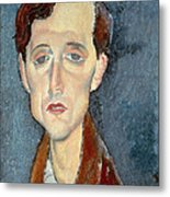 Portrait Of Franz Hellens Metal Print by Modigliani