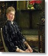 Portrait Of Mrs Ralph Sneyd Metal Print by Sir Lawrence Alma-Tadema