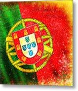 Portugal Flag  Metal Print by Setsiri Silapasuwanchai