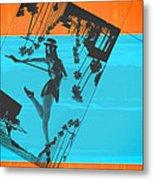 Post Card From La Metal Print by Naxart Studio
