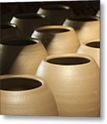 Pottery In Thailand Metal Print by Chatchawin Jampapha